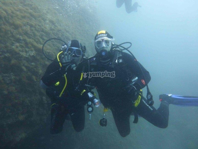 Durante il corso di diving