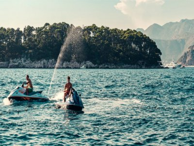 Moto d'acqua con patente Golfo di Noto di 1 ora