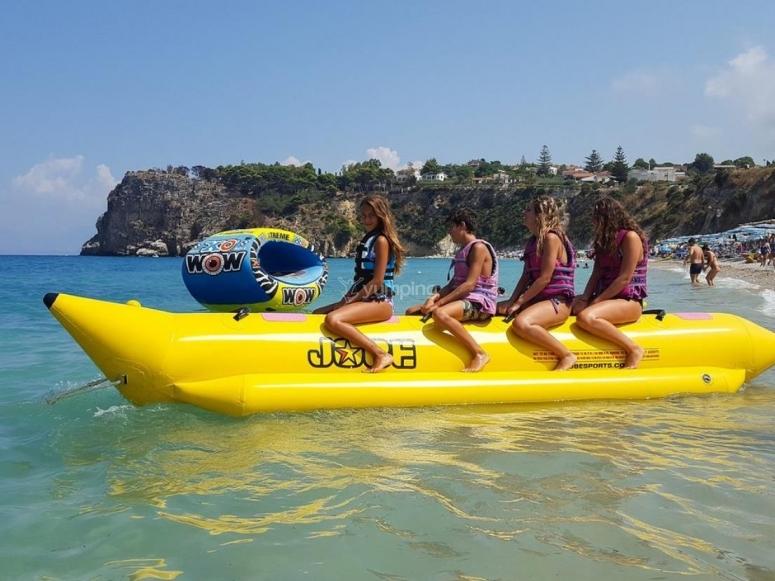 Banana boat in Trapani