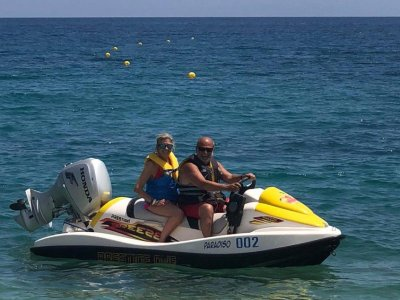 Jet ski Guidaloca beach 1 hour and 30 without a license