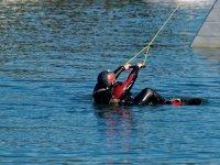 Una tipica partenza in wakeboard