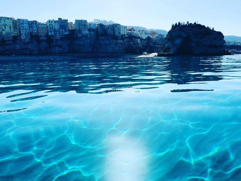Crystal clear water of Calabria