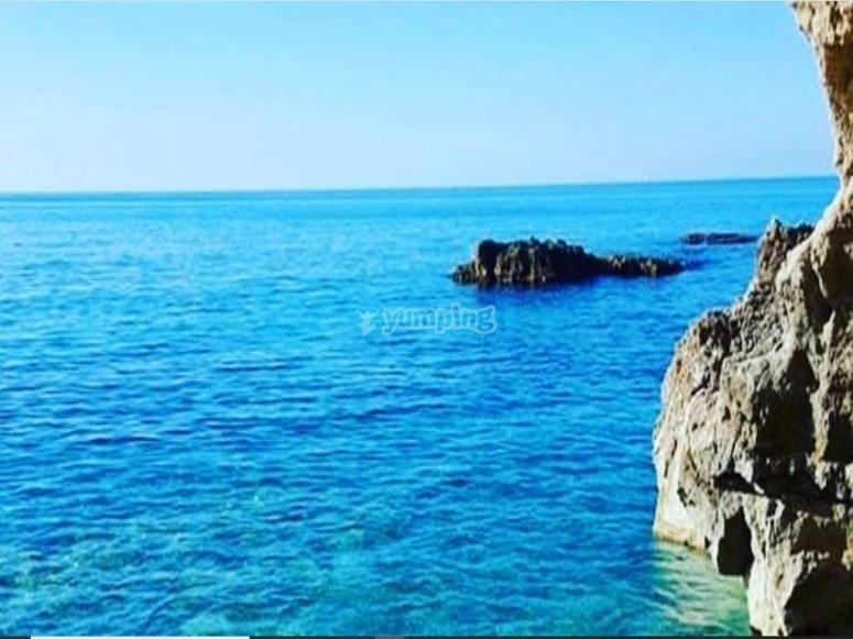 The very blue Tyrrhenian Sea