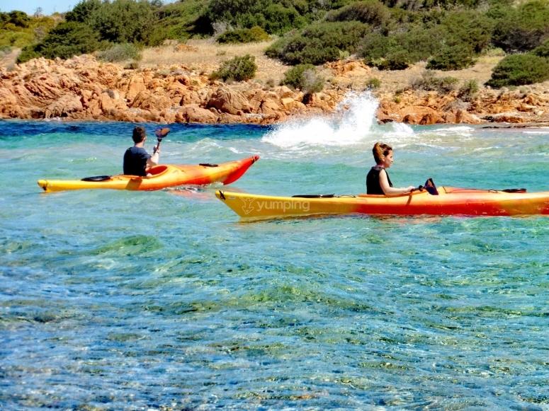 In kayak a Tavolara