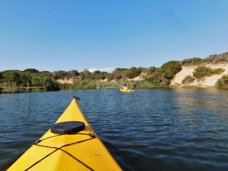Durante l'escursione in kayak