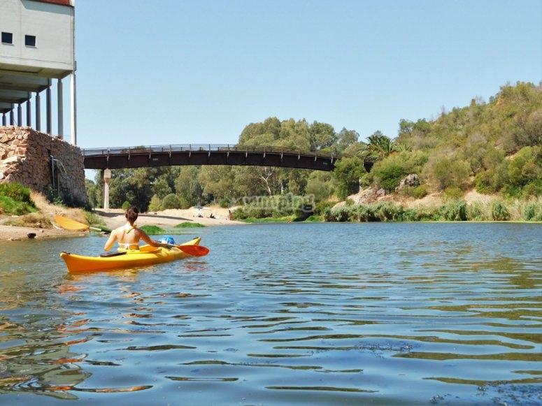 Remando sul fiume Coghinas