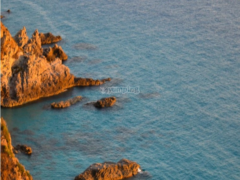 The crystal clear water of Capo Vaticano