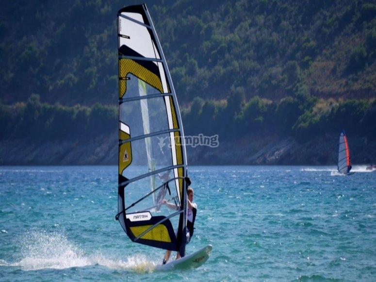 Advanced windsurfing course