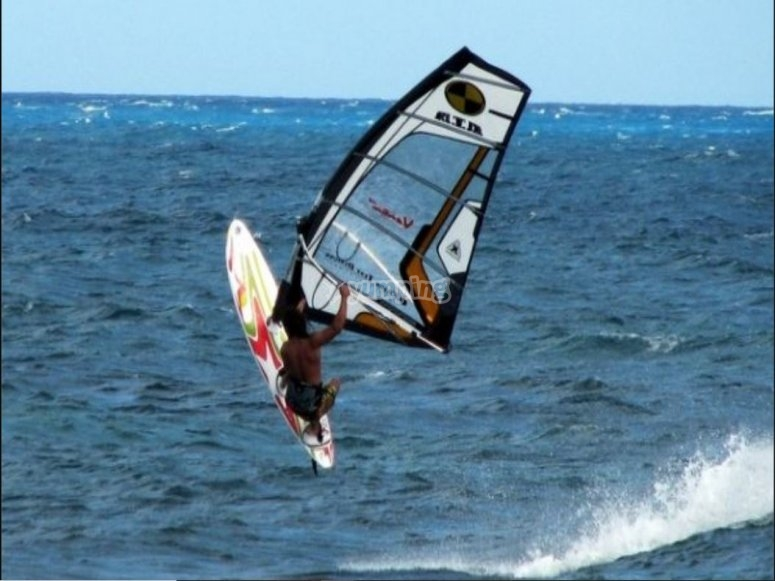 Jumps in windsurfing
