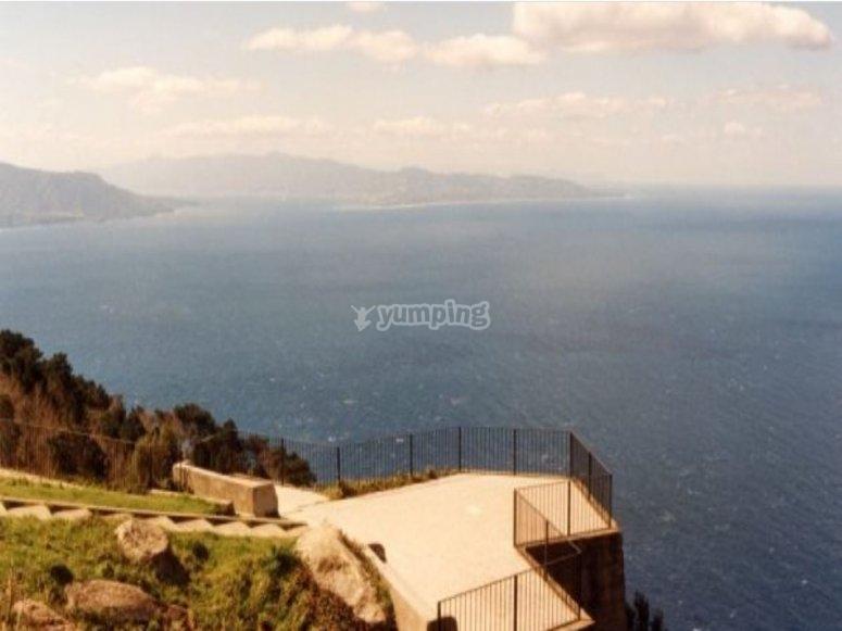 Terrace on the coast