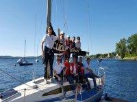 Che bel gruppo in barca
