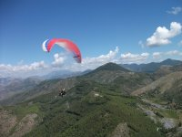 Paragliding on the park
