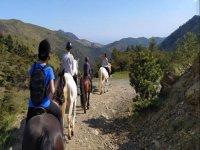 Passeggiata a cavallo in Piemonte
