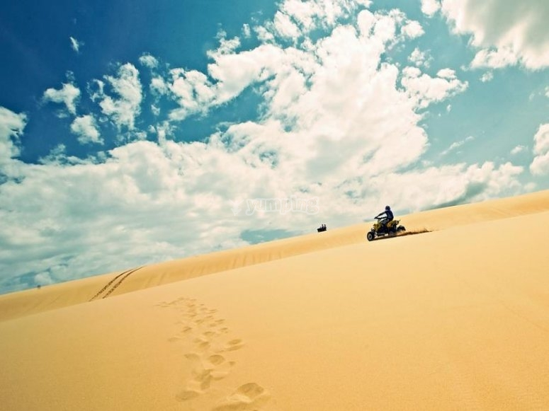 quad su sabbia