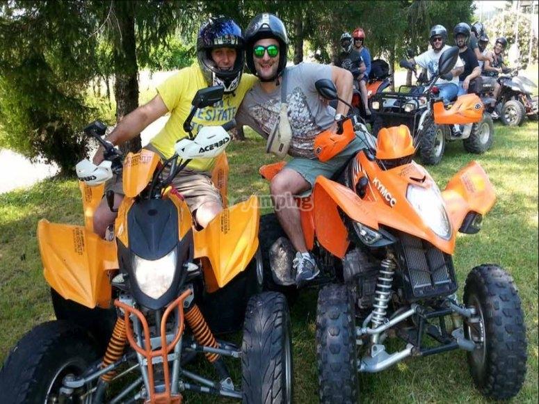 En quad en compagnie