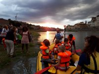 Tramonto a firenze in rafting