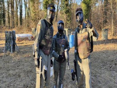 Quad and paintball Ticino River children 4h