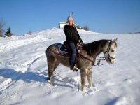 A cavallo sulla neve