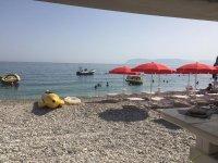 On the beach in Castellammare del Golfo