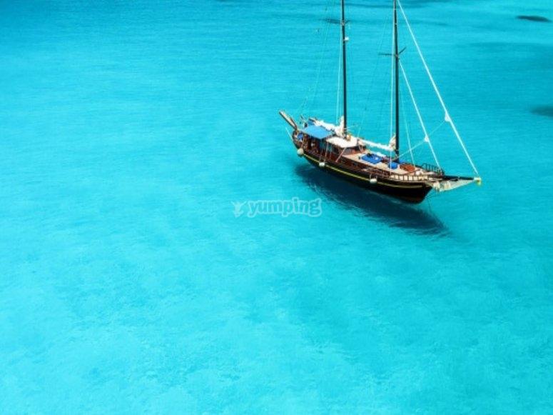 La barca di legno