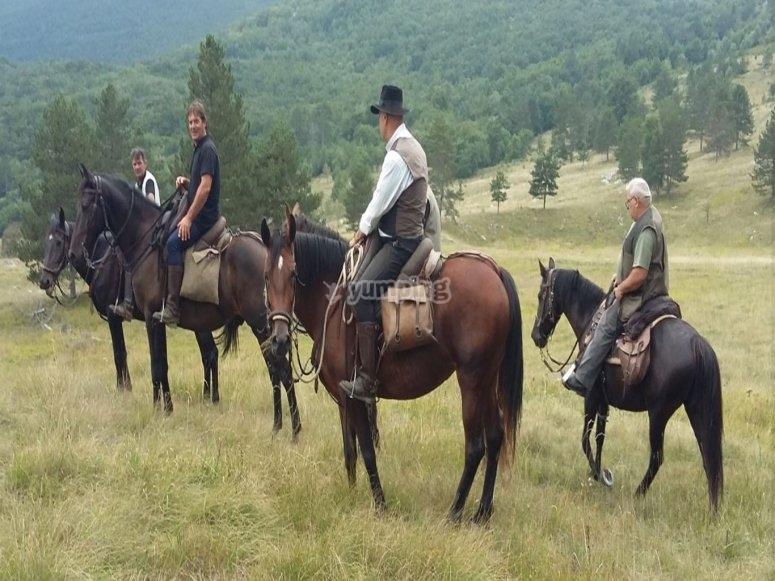 A cavallo nella natura