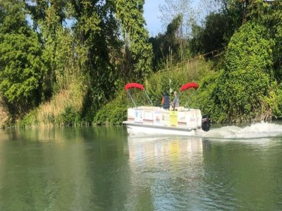 Gita in barca sul fiume Pescara bambini 1 ora e 30
