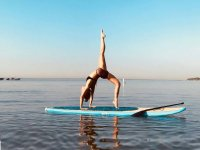 yoga above the sup