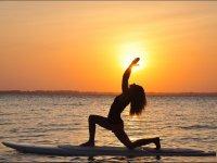 sunset yoga sup