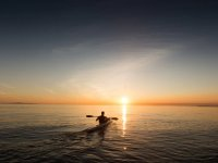 canoe and sunset