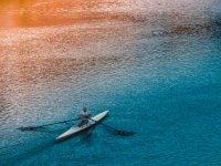 canoe and panorama
