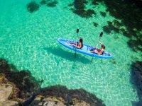 Kayaking in crystal clear waters