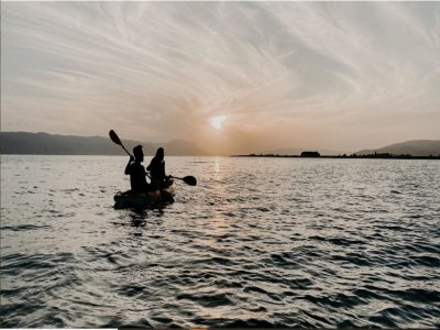 Double kayak rental in Bosa for 4 hours