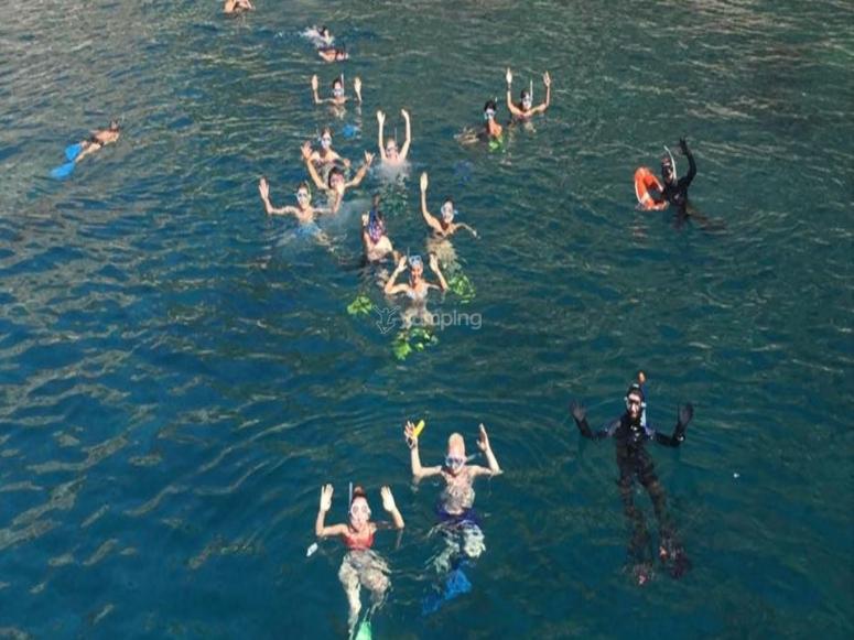 Snorkeling in Taormina