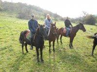 A cavallo in gruppo
