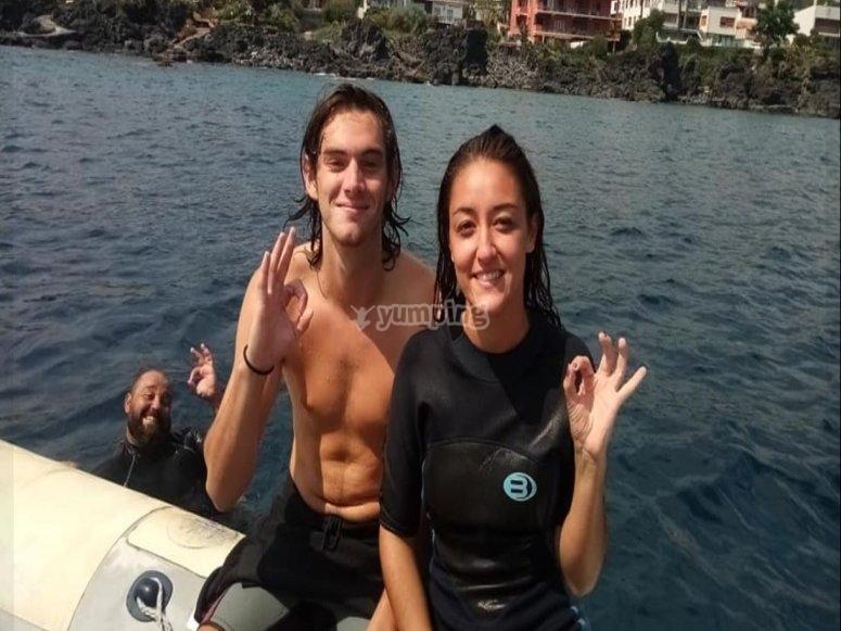 Before snorkeling