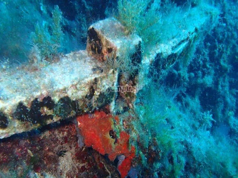 Wrecks on the seabed