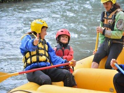 Rafting for children Tanagro or Sele river 3h