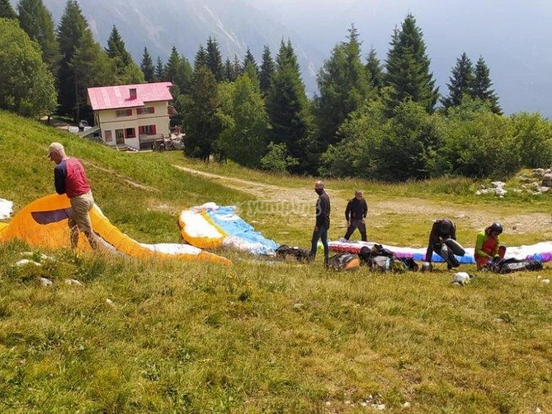 Paragliding flight preparation