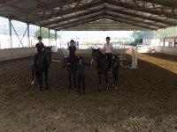 Una lezione equitazione