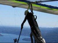 Hang gliding on the lake