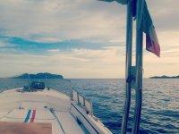 L'orizzonte dalla barca
