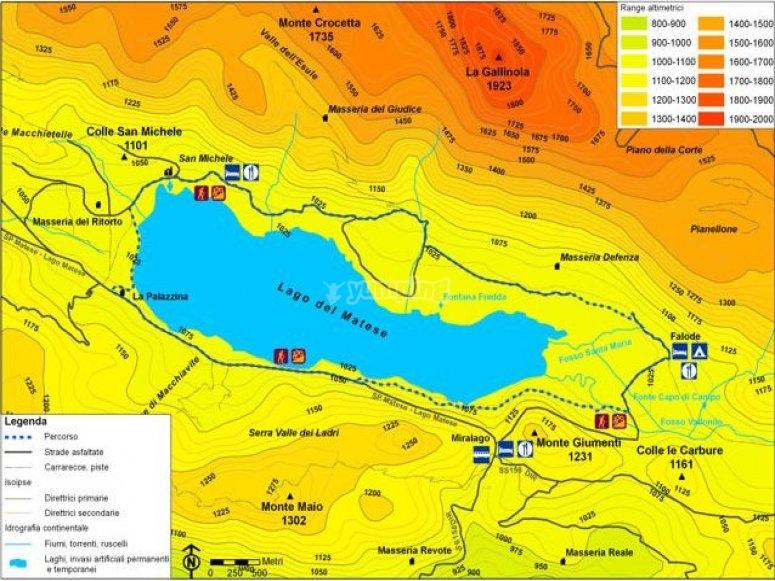 Cartina percorso lago
