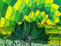 Hot air balloon flight south of Milan 1 hour