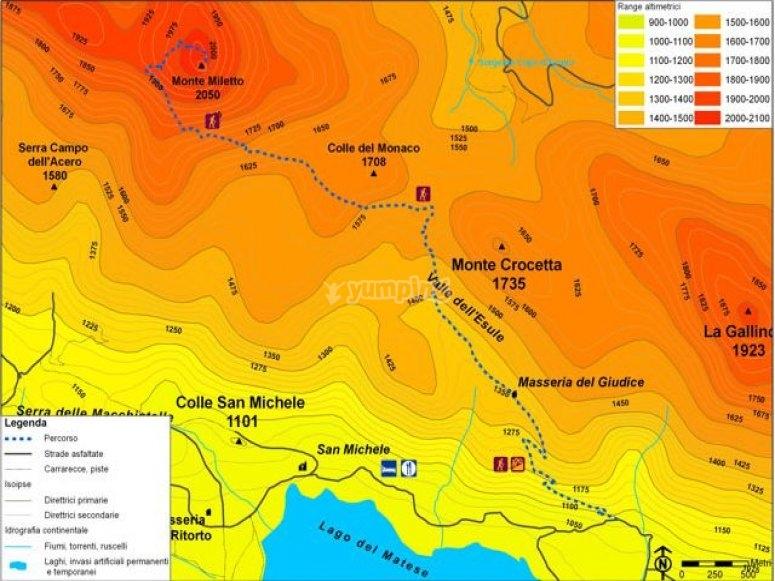 Monte Miletto route