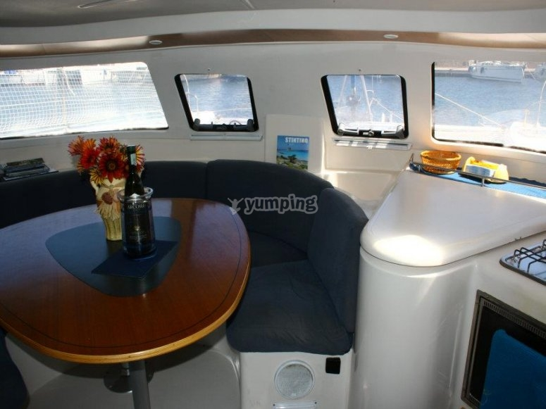 Interno della barca