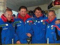 4 istruttori di sci alpino