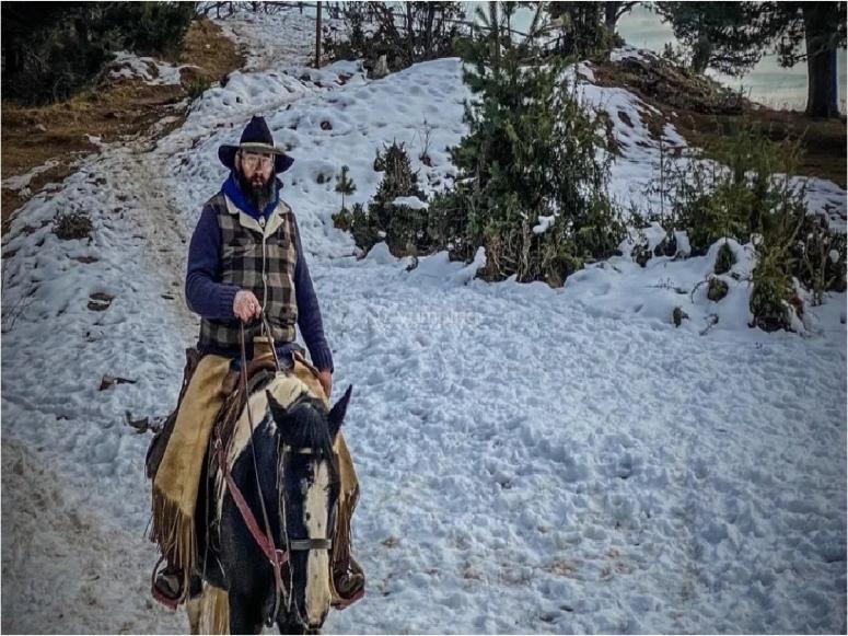 rider in winter