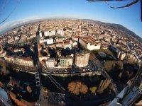 Torino vista dalla mongolfiera