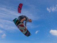 Kitesurfing in the air