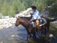 A cavallo nel fiume